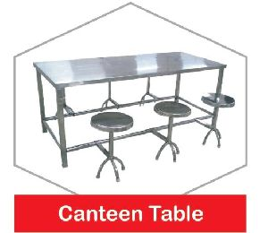 Stainless Steel Canteen Table