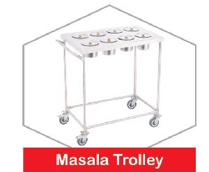 Stainless Steel Masala Trolley