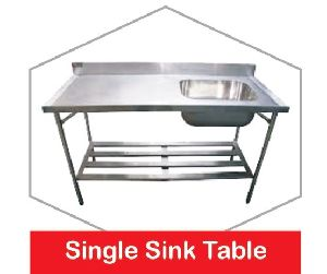 Stainless Steel Single Sink Table