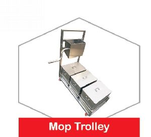 Stainless Steel Mopping Trolley