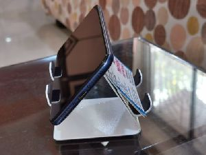 Metallic Double Side Mobile Stand