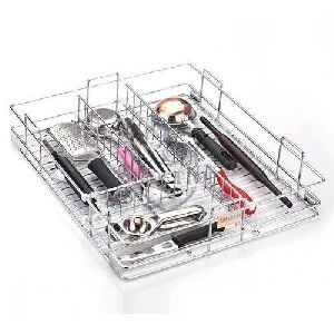 Stainless Steel Wire Mesh Cutlery Basket