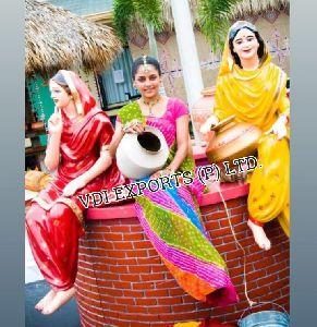 Punjabi Culture Fiber Statues