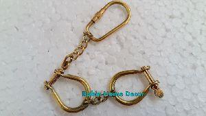 Brass Handcuff Keychain