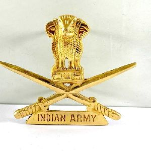 Brass Indian Army Logo