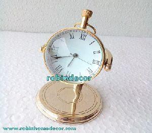 Brass Nautical Desktop Clock