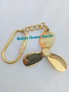 Brass Propeller Keychain