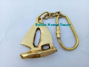 Brass Sailboat Keychain