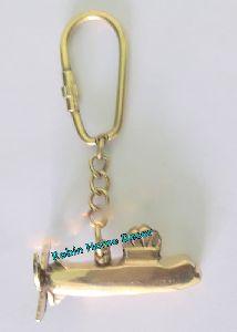 Brass Submarine Keychain