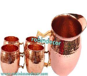 Copper Jug & Mule Mug Set
