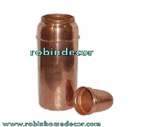 Copper Water Bottle with Glass Cap