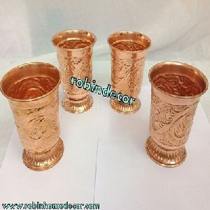 Copper Water Drinking Glass