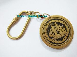 Nautical Calendar Brass Keychain
