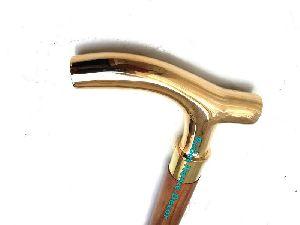 Victorian Brass Handle Designer Canes Antique Vintage Wooden Walking Stick Gift