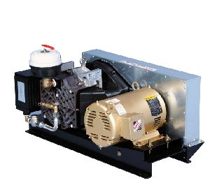 Base mounted scroll air compressors