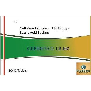 Cefixime Trihydrate Lactic Acid Bacilus 100mg Tablets