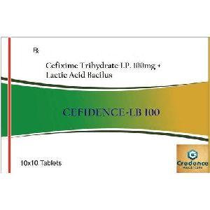 Cefixime Trihydrate Lactic Acid Bacilus 100mg Tablets