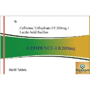 Cefixime Trihydrate Lactic Acid Bacilus 200mg Tablets