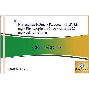 Nimesulide Paracetamol Phenylephrine Caffeine Cetirizine Tablets