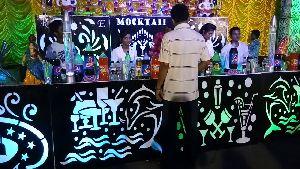 Mocktail Display Counter