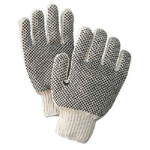 Cotton Knitted Safety Gloves