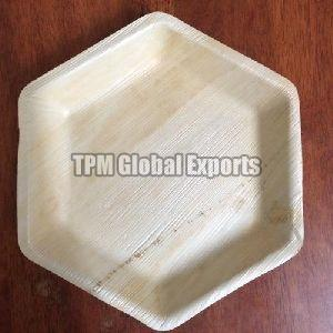 Hexagonal Areca Leaf Plate
