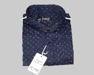 Mens Blue Fancy Shirt