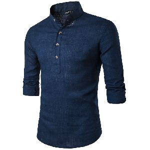 Mens Blue Short Kurta