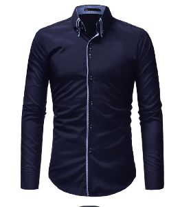 Mens Blue Slim Fit Shirt