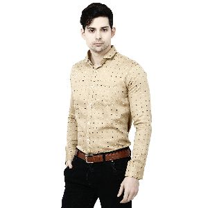 Mens Brown Casual Shirt