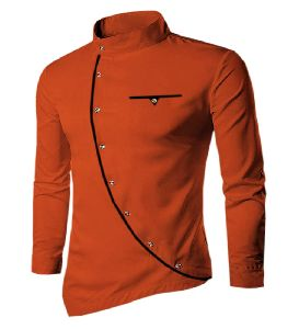 Mens Red Cotton Kurta