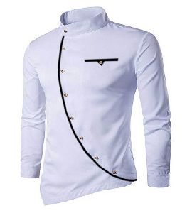 Mens White Cotton Kurta