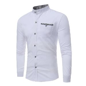 Mens White Fancy Shirt
