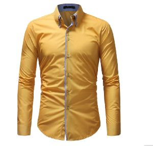 Mens Yellow Casual Shirt