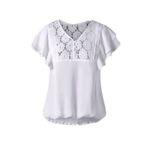 Ladies Net Yoke Top