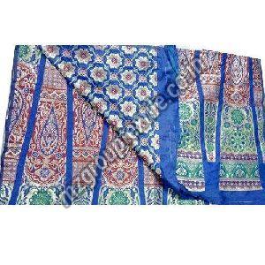 Blue Unstitched Banarasi Lehenga