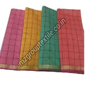 Chanderi Checks Fabric