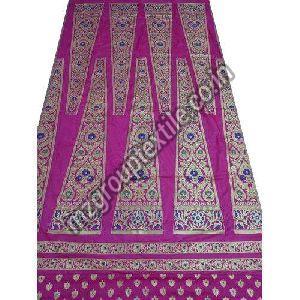 Pink Unstitched Banarasi Lehenga
