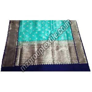 Sky Blue Kanchipuram Saree