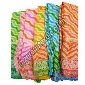 Striped Chiffon Silk Saree