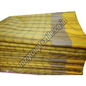 Yellow Check Cotton Fabric