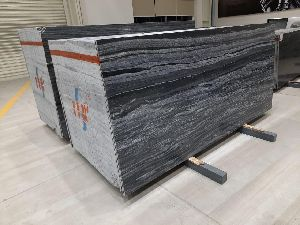 Wave Black Marble Stone