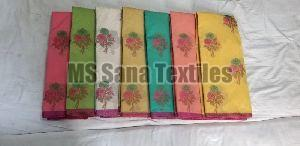 Flower Design Cotton Sarees