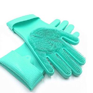 Green Silicone Gloves
