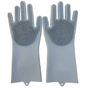 Grey Silicone Gloves