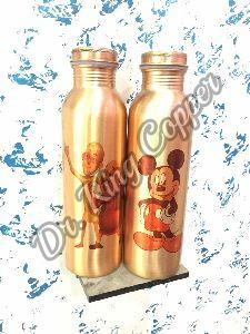 Cartoon Printed Copper Bottle