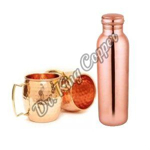 Copper Bottle with Mule Mug Set