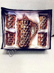 Copper Jug & Glass Gift Set