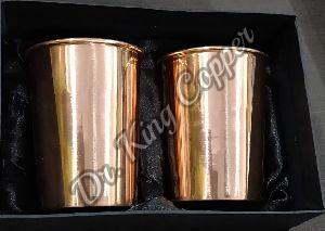 Copper Plain Glass Set
