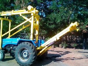 Truck Mounted Hydraulic Pole Hole Drilling Rig